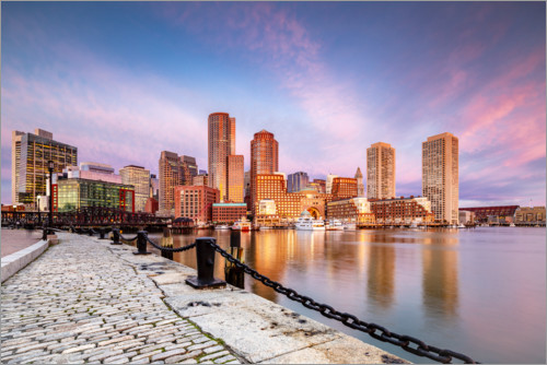 Premium poster Boston Harbor at sunrise