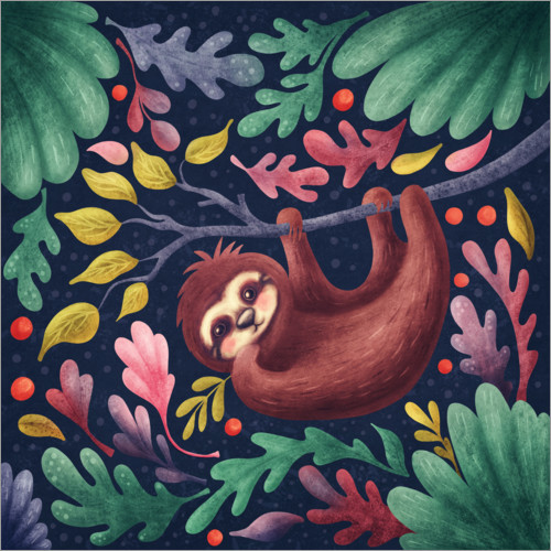 Wall sticker Sloth in the forest