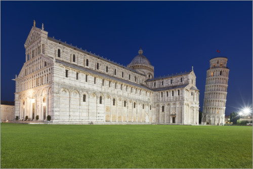 Premium poster Cathedral and Leaning Tower of Pisa