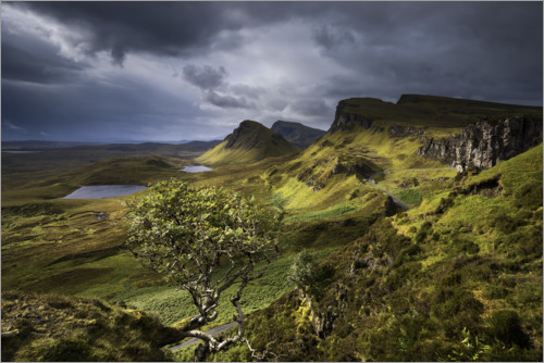 Premium poster Highlands of the Isle of Skye, Scotland