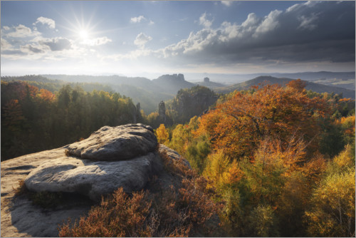 Premium poster Saxon Switzerland in autumn