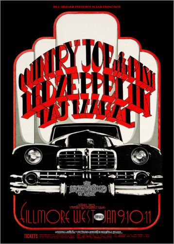 Premium poster Led Zeppelin & Country Joe And The Fish
