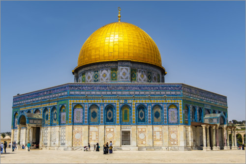 Premium poster Dome of the Rock on the Temple Mount