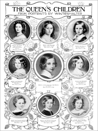 Premium poster Queen Victoria's children