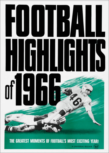 Premium poster Football Highlights 1966