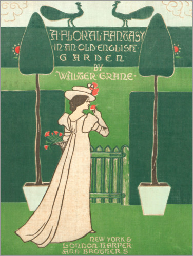 Premium poster A floral fantasy in an old english garden