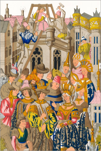 Premium poster Founding of the Abbey of St Genevieve