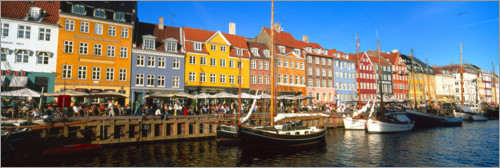 Premium poster Sailboats in the Nyhavn canal