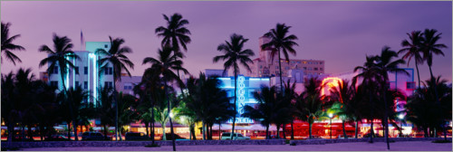 Premium poster The lights of Miami