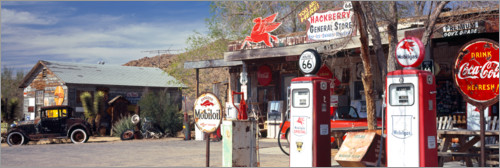 Premium poster Gas station on Route 66