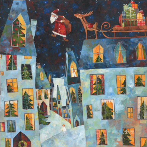 Wall sticker Christmas roofs