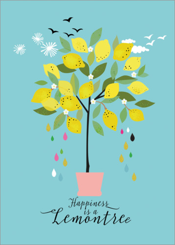 Premium poster Happiness is a lemon tree (English)