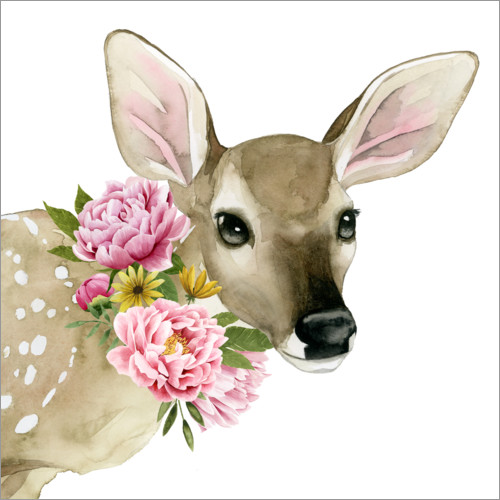 Wall sticker Deer in the spring I