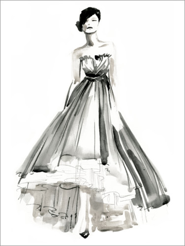 Premium poster Evening dress II