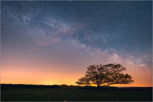 Premium poster Starry sky and Milky Way in the Harz