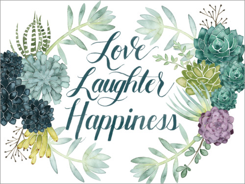 Premium poster Love laughter happiness (english)