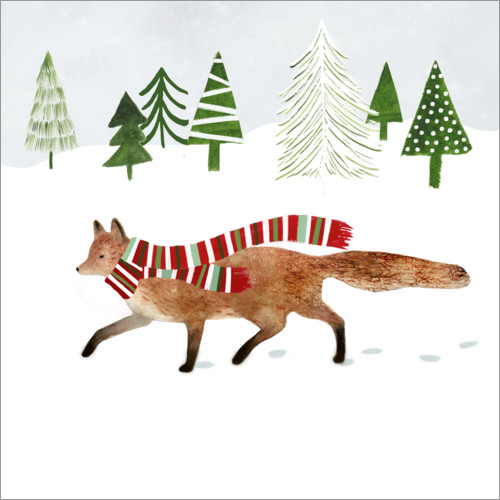 Wall sticker Forest Christmas II
