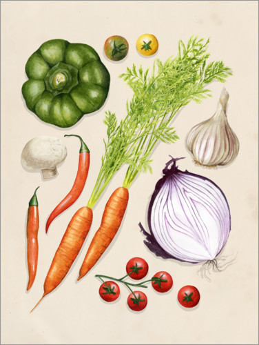 Premium poster Vegetable garden II