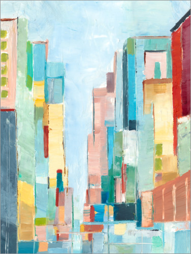 Premium poster Abstract city