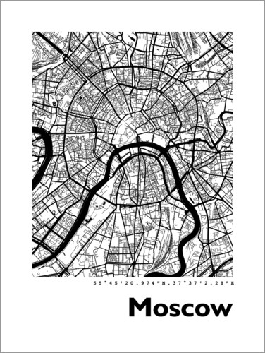 Premium poster City map of Moscow