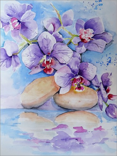 Premium poster Purple orchids