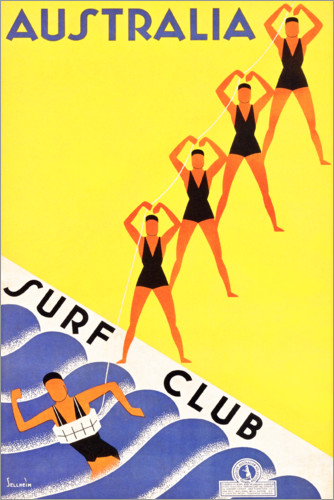 Premium poster Australia, Surf Club (English)