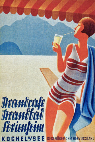 Premium poster Holiday home on the Kochelsee (German)