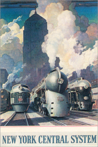 Premium poster New York central system (English)