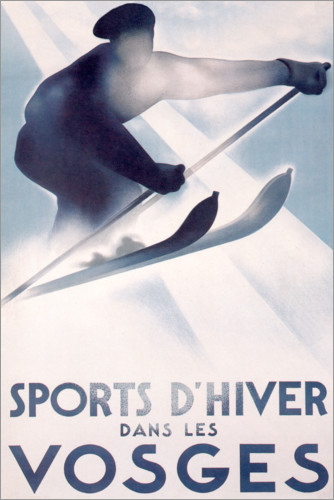 Premium poster Winter sports in the Vosges (French)