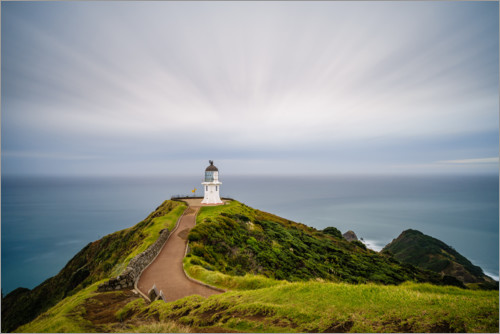 Premium poster Lighthouse in Cape Reinga, New Zealand