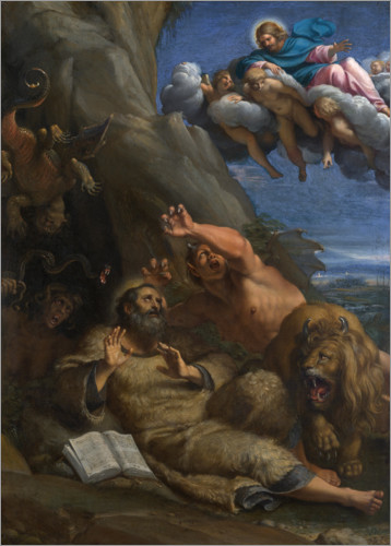 Premium poster The Temptation of St Anthony Abbot