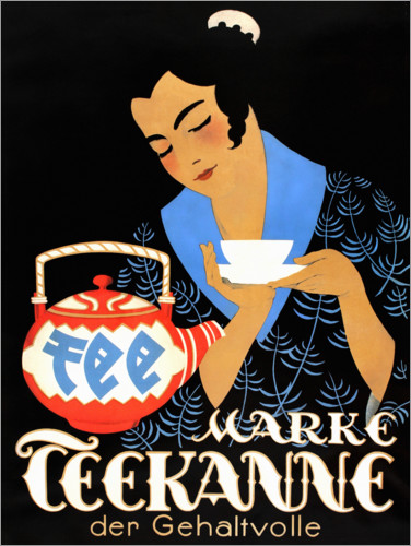 Premium poster Teapot, the salary (German)