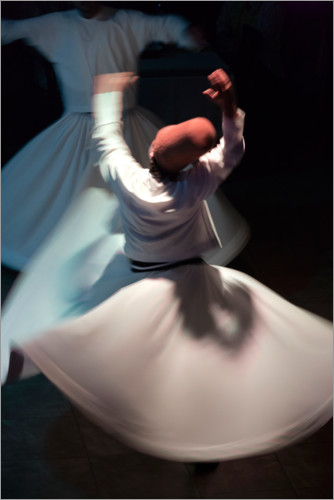 Premium poster Whirling dervishes while dancing