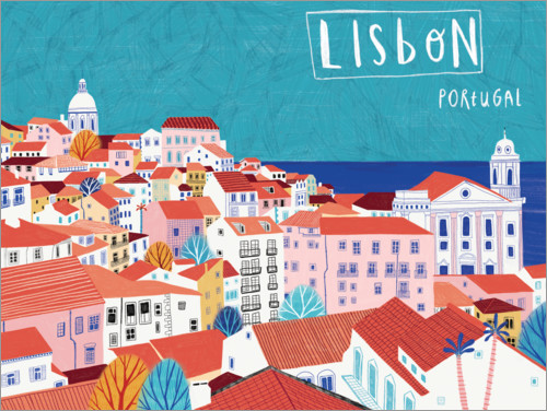 Premium poster Lisbon by the sea