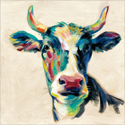 Wall sticker Expressionist cow