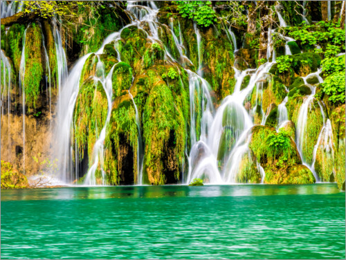 Premium poster Waterfalls in the Plitvice Lakes National Park
