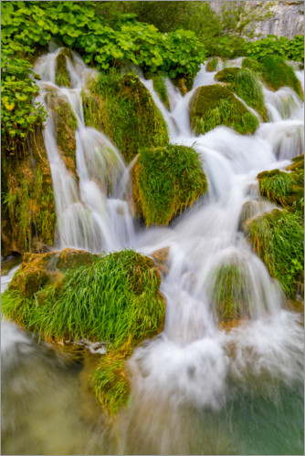 Premium poster Waterfalls in the Plitvice National Park