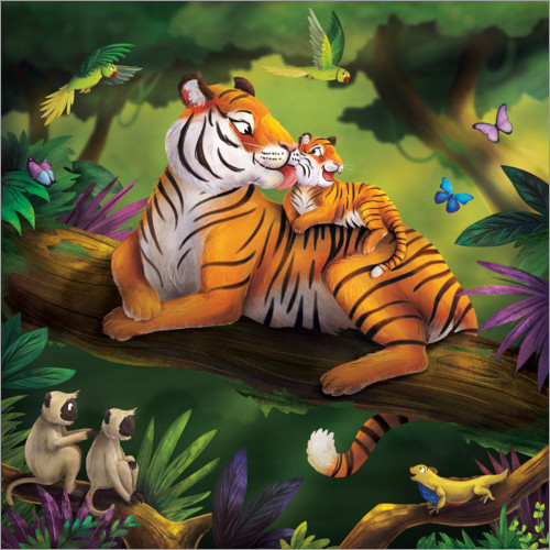 Wall sticker Tiger Mom