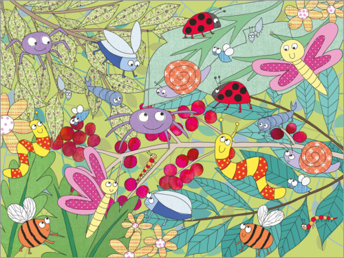 Premium poster Colorful insect world