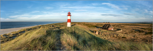 Premium poster Lighthouse on the elbow on Sylt