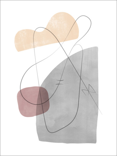 Premium poster Abstract composition XI