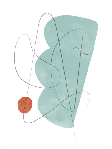 Premium poster Abstract composition X