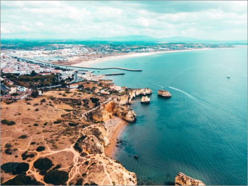 Premium poster View of the coast of Lagos, Portugal