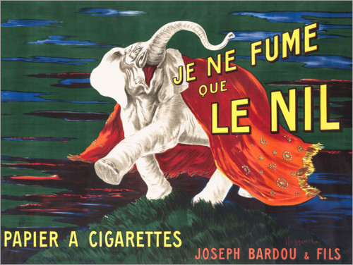 Premium poster I only smoke Nile (French)
