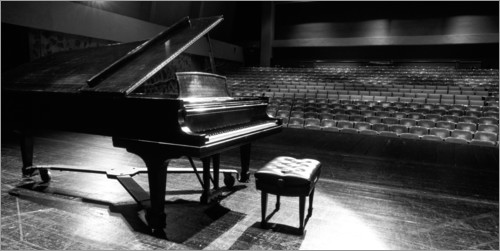 Premium poster Grand piano on a concert stage
