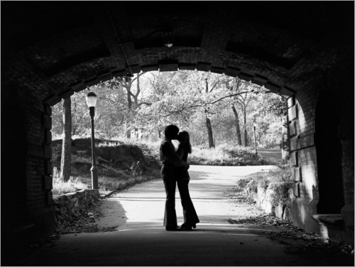 Premium poster Silhouette of a couple