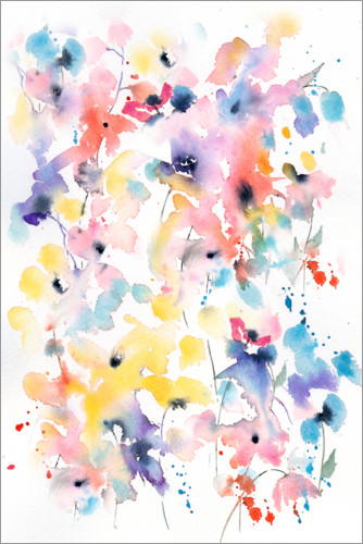 Premium poster Flower Abstract II