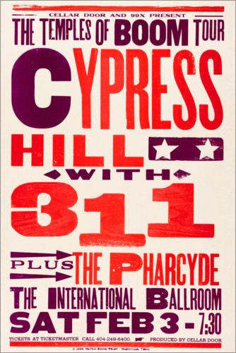 Premium poster Cypress Hill, With 311, Concert 1996