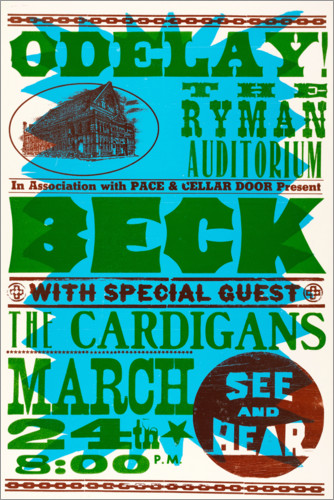 Premium poster Beck With Special Guests, The Cardigans 1990s
