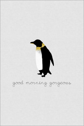 Premium poster Good Morning Gorgeous - Penguin Set